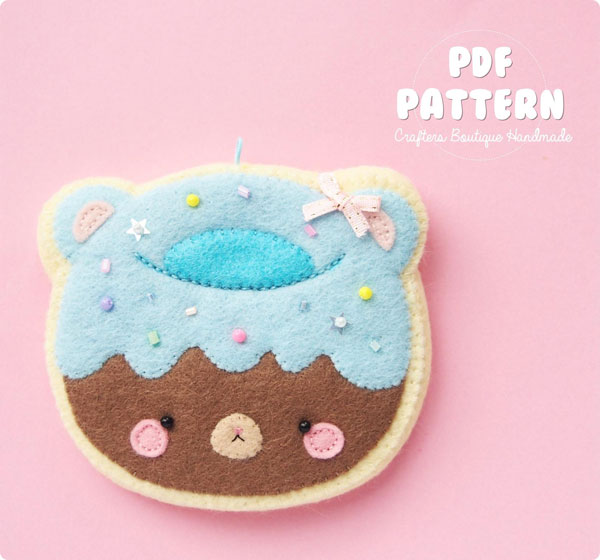 Kawaii donut sewing pattern