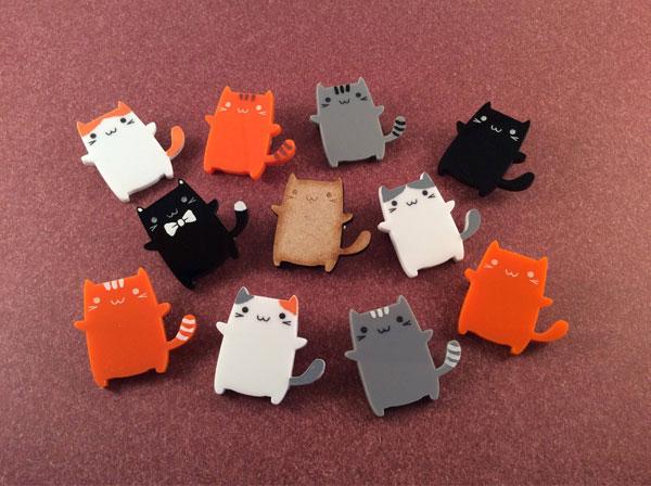 kawaii cat pins