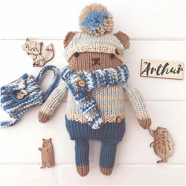 kawaii teddy bear knitting pattern