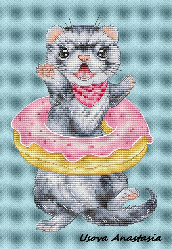 ferret Kawaii Cross Stitch Patterns