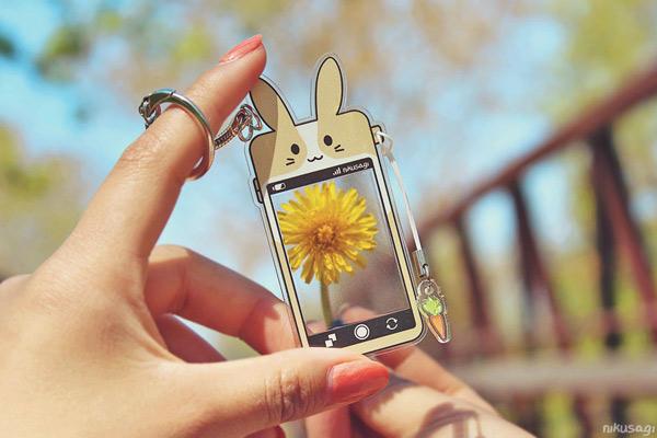 kawaii bunny keychain