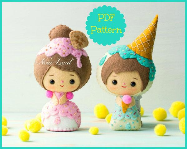 kawaii ice cream sewing pattern