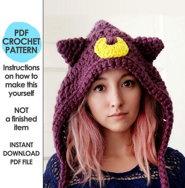 Sailor Moon hood crochet pattern