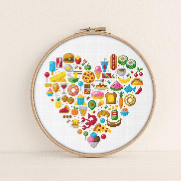 Kawaii Food Cross Stitch Patterns & Kits