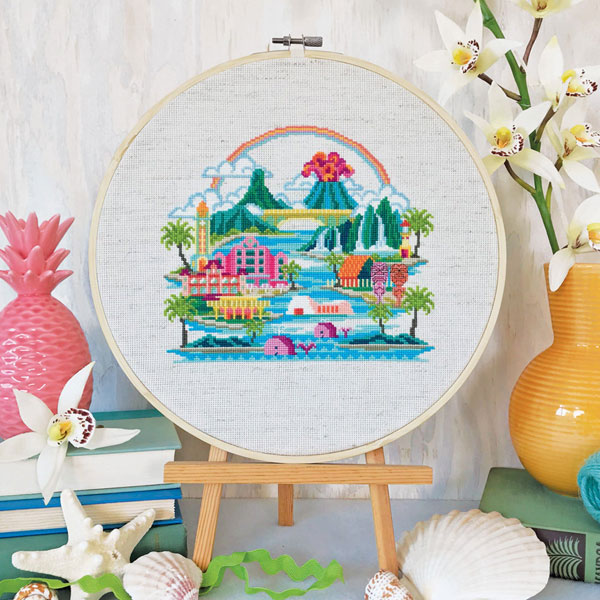 hawaii cross stitch pattern