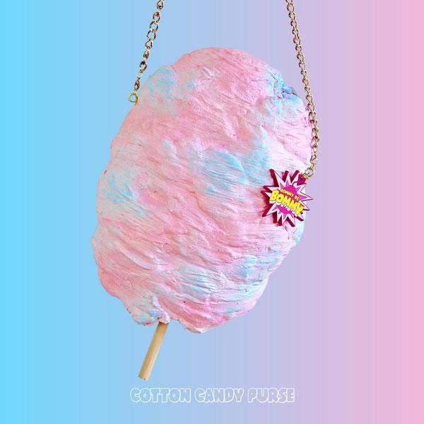 cotton candy kawaii purse