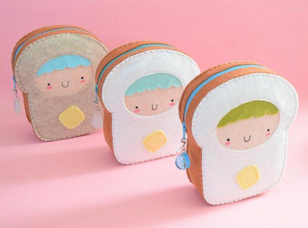 Kawaii handmade bread pouch