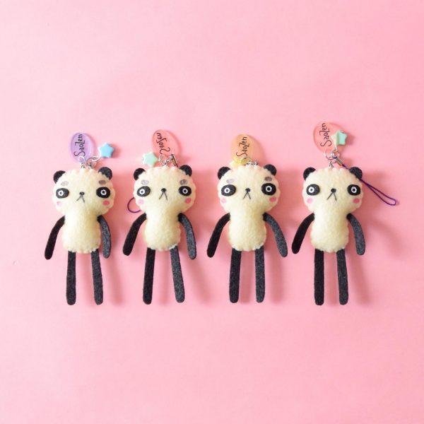 Kawaii handmade panda charm