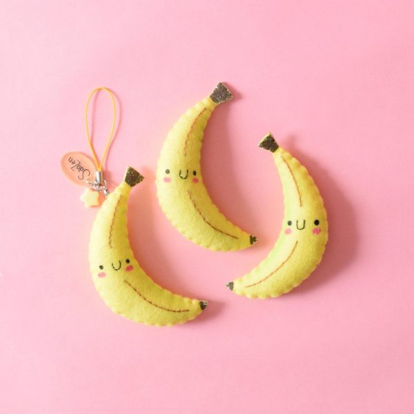 Kawaii handmade banana charms