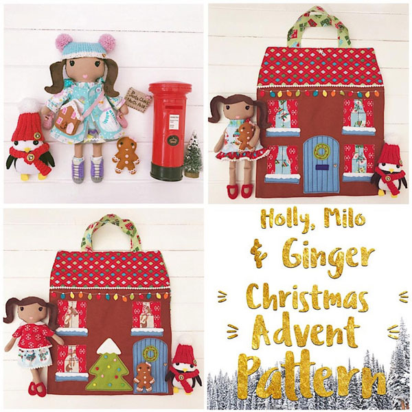 kawaii advent calendar sewing pattern