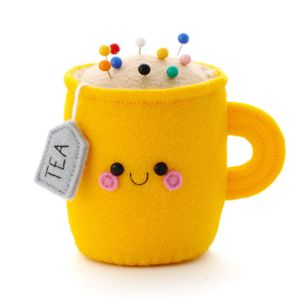 kawaii tea cup pincushion