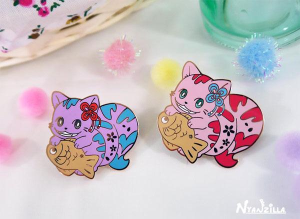 Kawaii fairytale Alice in Wonderland enamel pins
