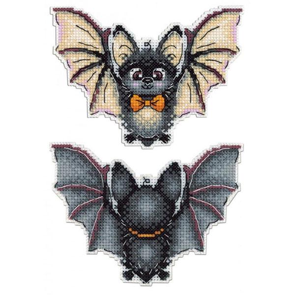 Kawaii Halloween Craft Kits - bat cross stitch