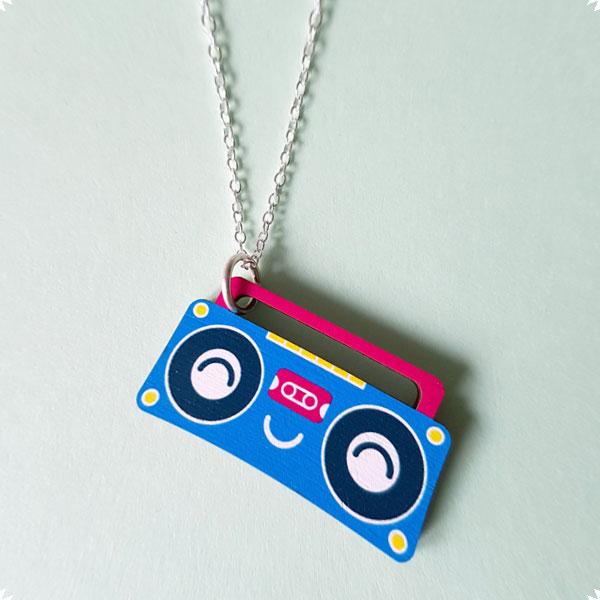 kawaii boombox necklace