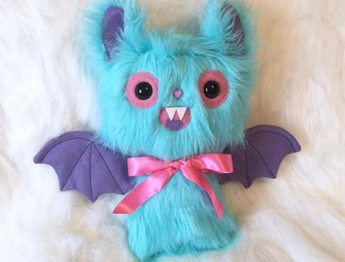 kawaii pastel bat plush