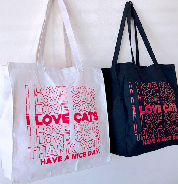 I Love Cats tote bag