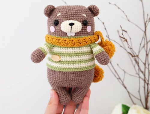 kawaii beaver amigurumi crochet patterns