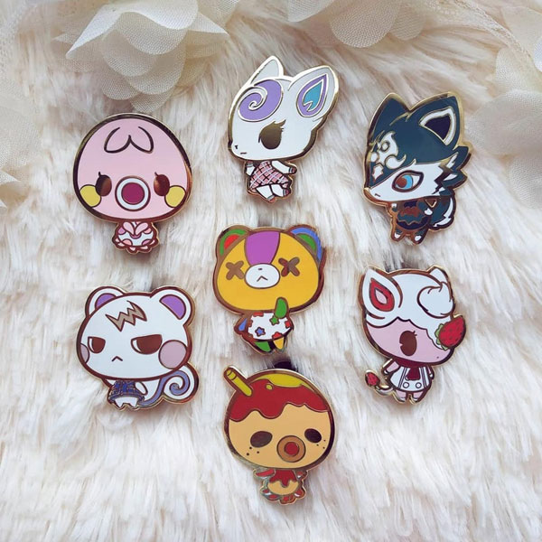 Animal Crossing enamel pinss