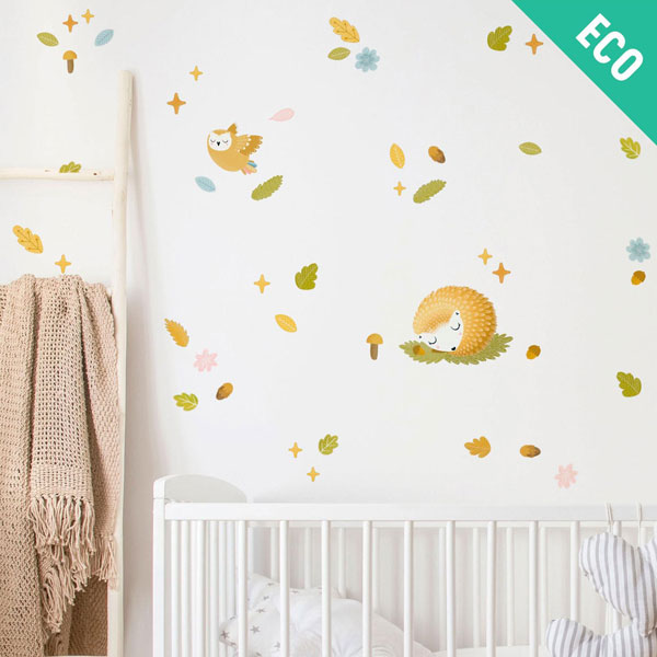 woodland forest kawaii wall stickers
