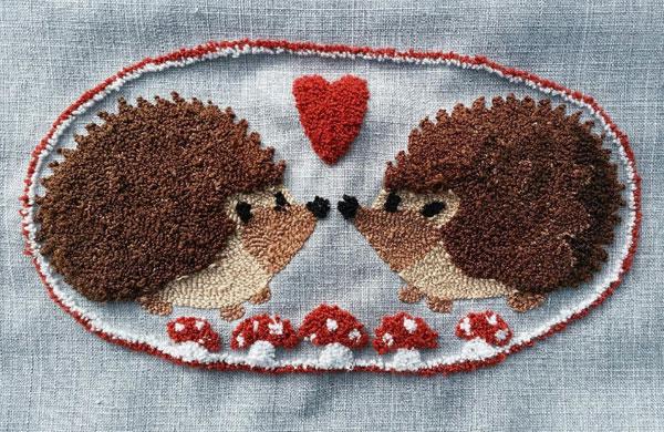 cute punch needle kits - hedgehogs