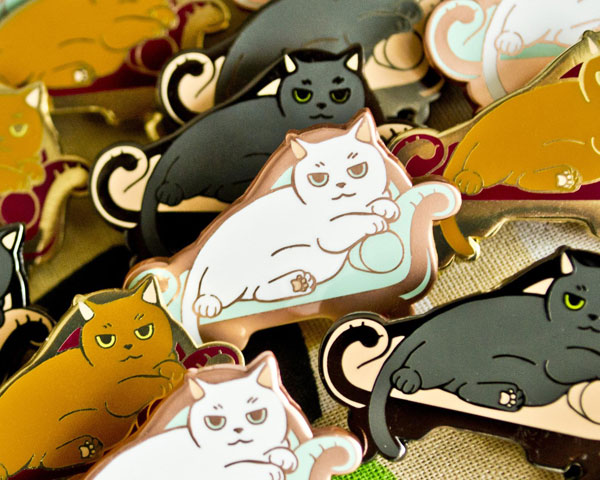 Cute Cat enamel pins