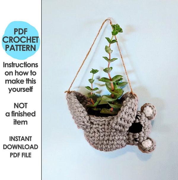 koala planter crochet pattern