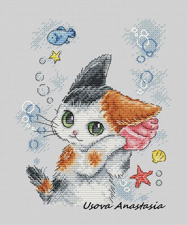 Cat Kawaii Cross Stitch Patterns