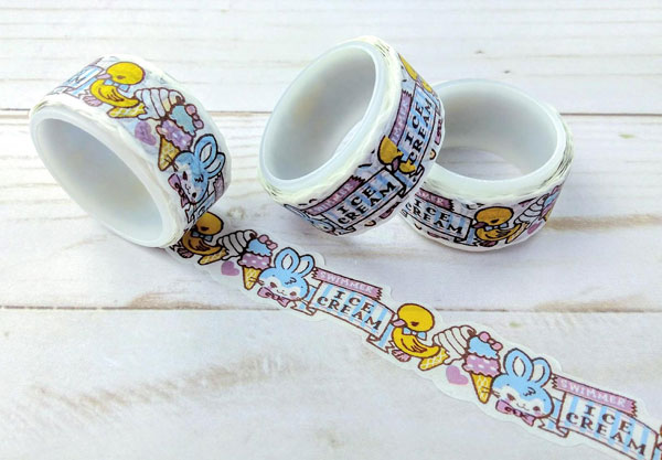 kawaii ice cream washi tape