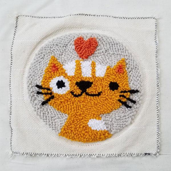 cute punch needle kits - cat