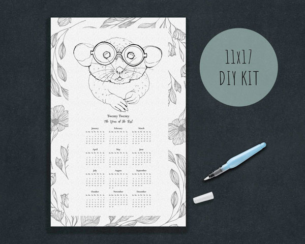 Year of the Rat Crafts - watercolour painting kit