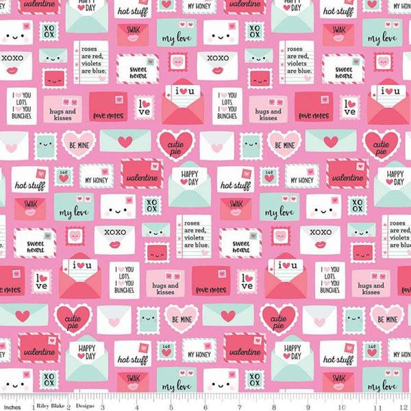 kawaii Valentines fabric