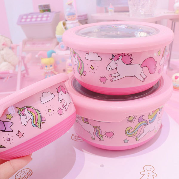 pink unicorn lunch boxes