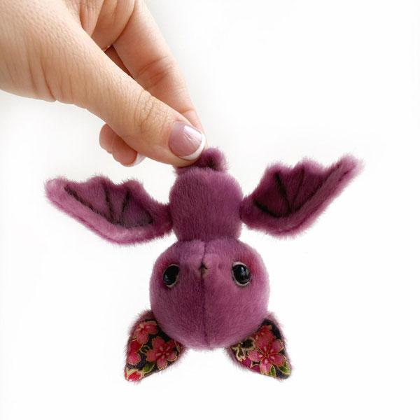 Kawaii Halloween Craft Kits - bat plush toy sewing pattern