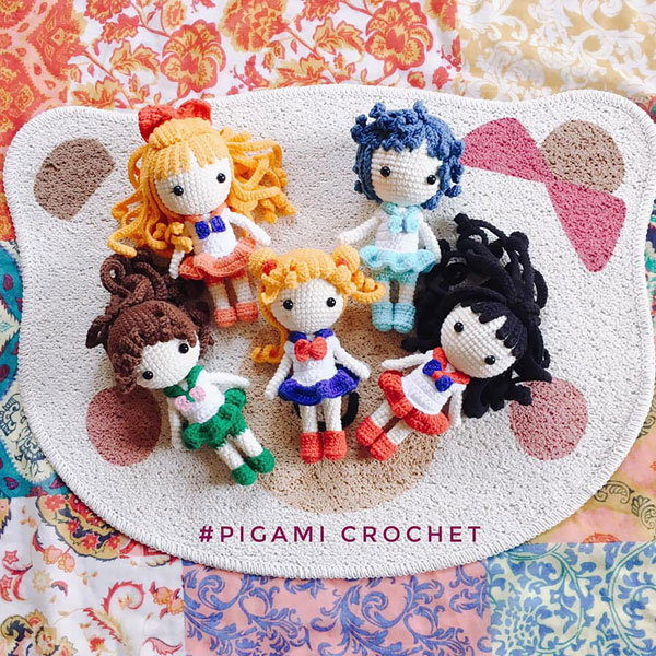Sailor Moon amigurumi crochet patterns