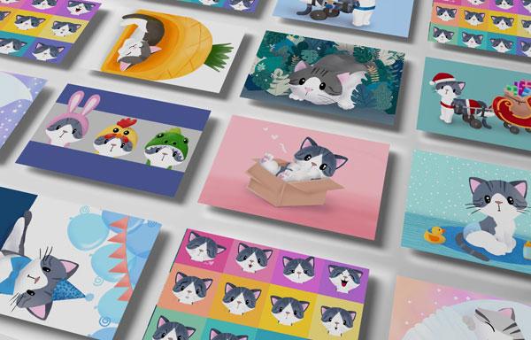 Cute & Positive Postcard Sets