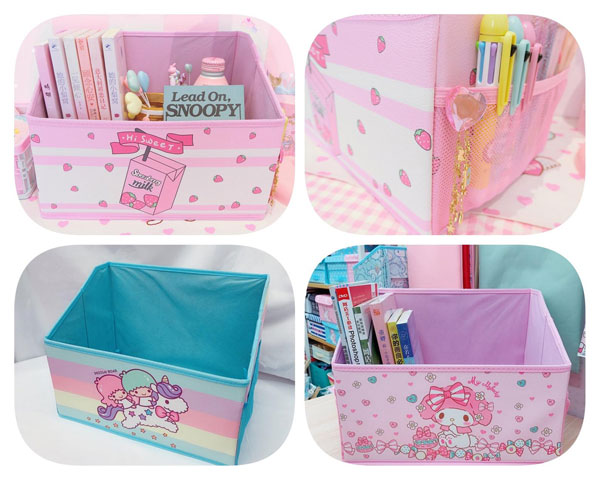 kawaii desk storage boxes