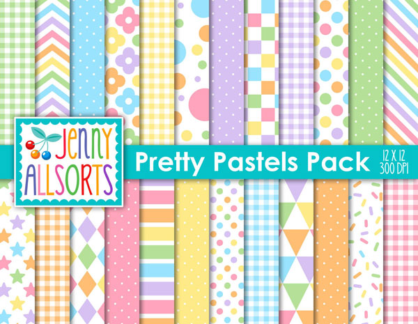 Pastel Craft Supplies - patterned paper