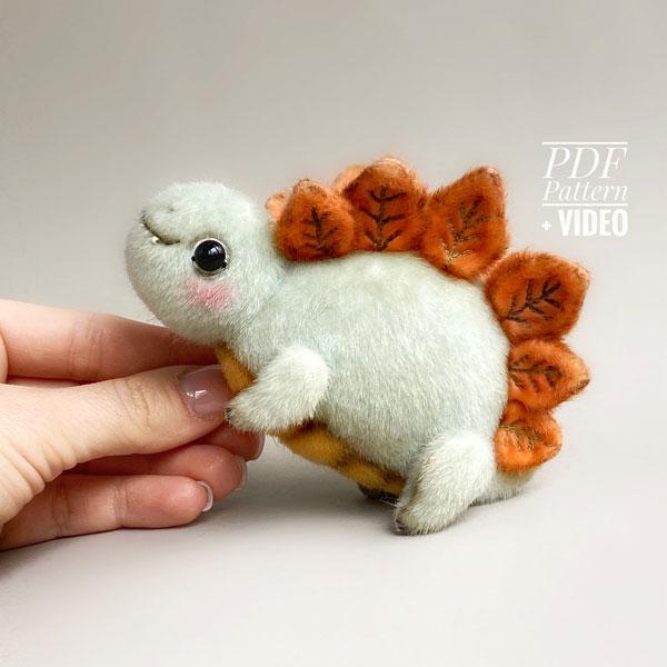 Cute Dinosaur Plush Sewing Kits & Patterns
