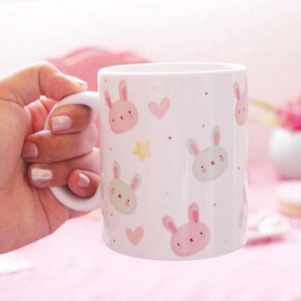 kawaii bunny mug