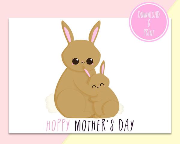 kawaii printable Mother's Day card