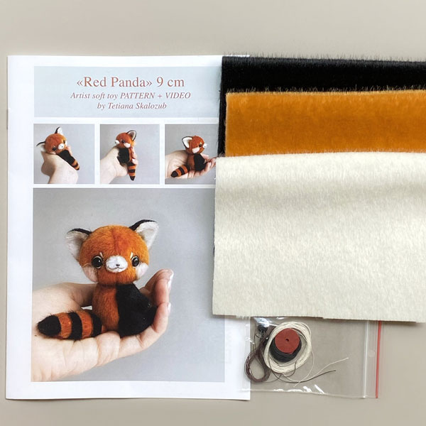Cute Red Panda Plush Sewing Kits & Patterns