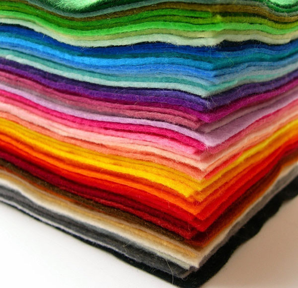 Colourful Craft Supplies - felt squares