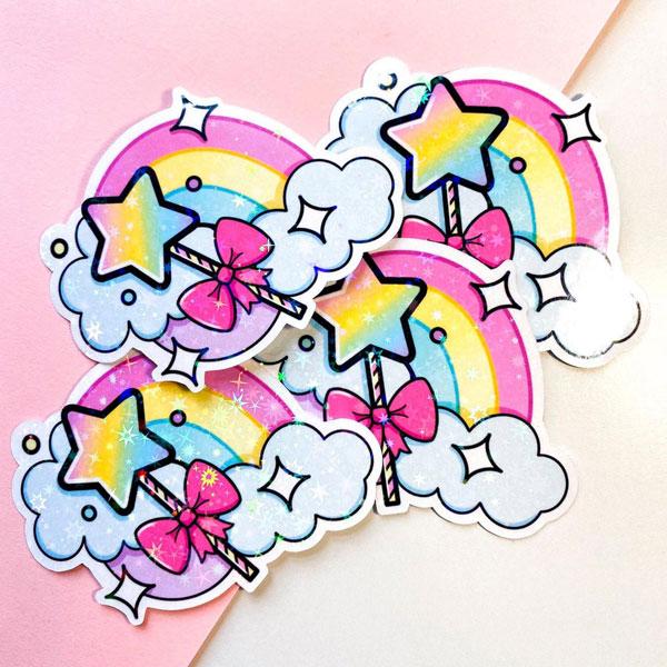 Kawaii Pride Month - rainbow stickers