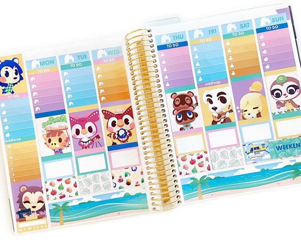 Animal Crossing planner kit