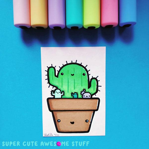Original Cute Wall Art - ACEO