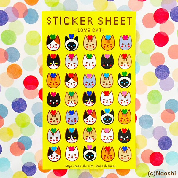 cats kawaii sticker sheets