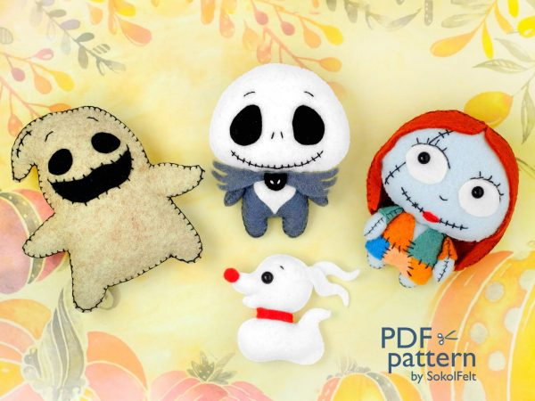 kawaii Halloween felt plush patterns