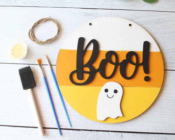 Kawaii Halloween Craft Kits - ghost sign