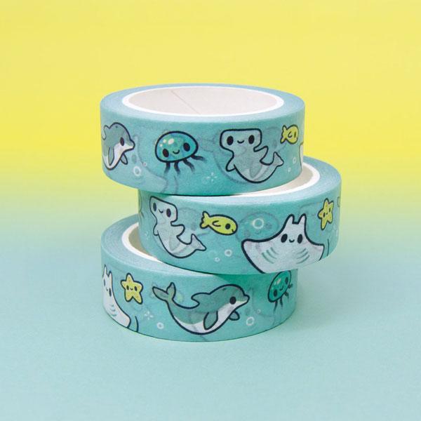 sea creatures kawaii washi tape