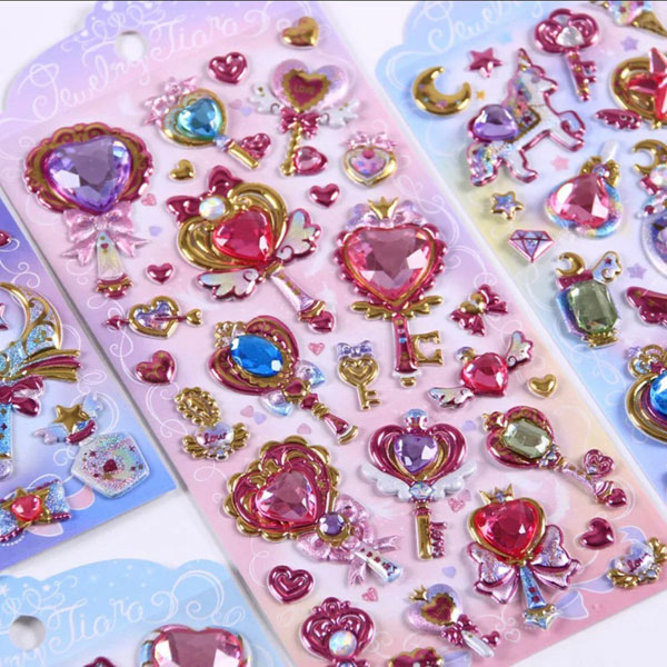 gemstone kawaii stickers